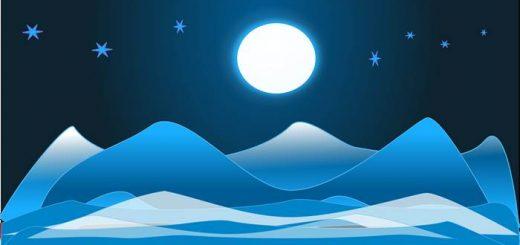 Луна в январе картинка