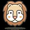 Лев иконка
